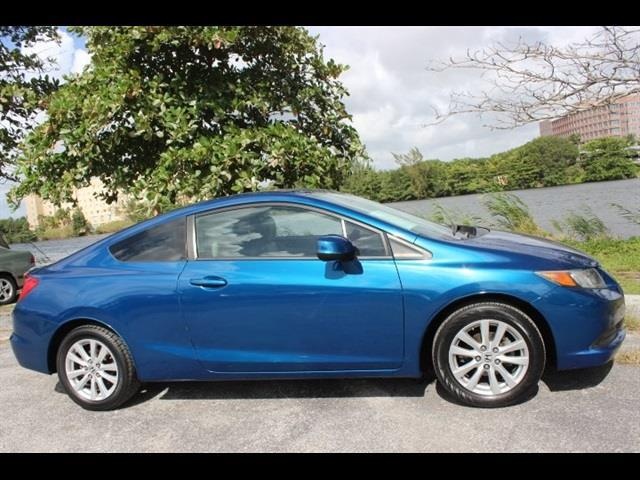 2012 HONDA CIVIC EX 2DR COUPE 5A lightning blue  we finance everyone  no issues  well ma