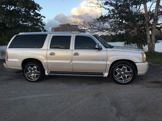 2003 CADILLAC ESCALADE ESV BASE AWD 4DR SUV white miami auto wholesale is a family owned and oper