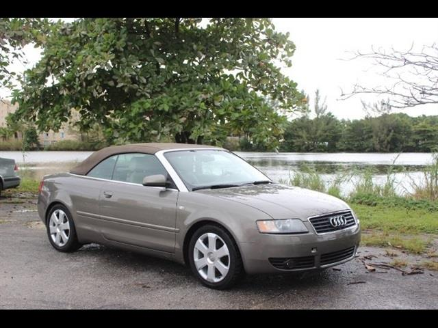2006 AUDI A4 18T 2DR CONVERTIBLE gold used cars  audi a4 financing available miami auto