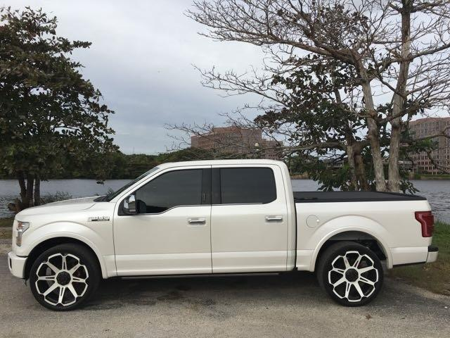 2015 FORD F-150 XL pearl platinum edition  premium wheels  back up cam  leather bed cover
