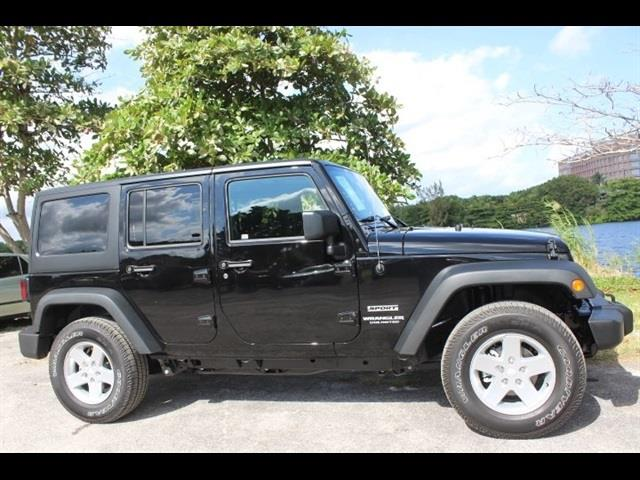 2016 JEEP WRANGLER UNLIMITED UNLIMITED SPORT black miami auto wholesale is a family owned and ope