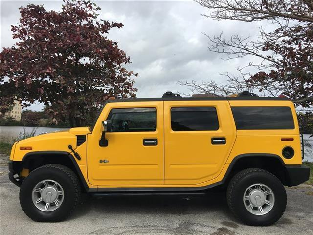 2003 HUMMER H2 4DR yellow fully loaded  clean carfax  leather  v8 roofrack  premium sou