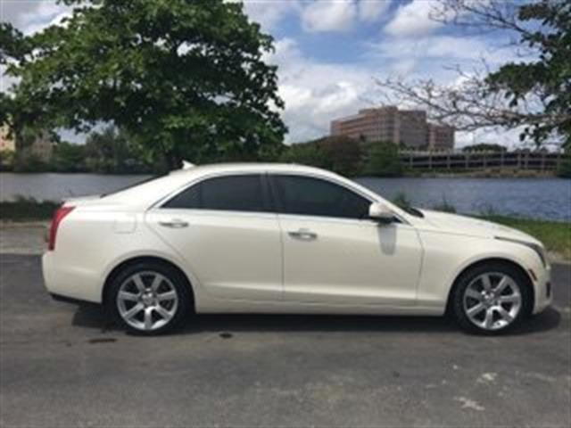 2013 CADILLAC ATS 25L 4DR SEDAN white pearl whiteleather interior low milescold ac