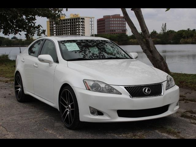2010 LEXUS IS 250 BASE 4DR SEDAN 6A white 1 owner leather interior sunroof push start eng