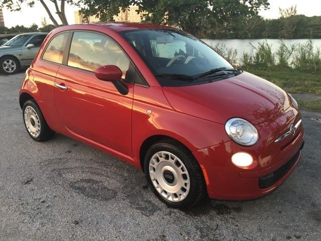 2012 FIAT 500 POP 2DR HATCHBACK red miami auto wholesale is a family owned and operated dealershi