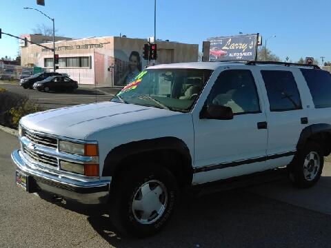 1999 Chevrolet Tahoe For Sale In Fresno CA