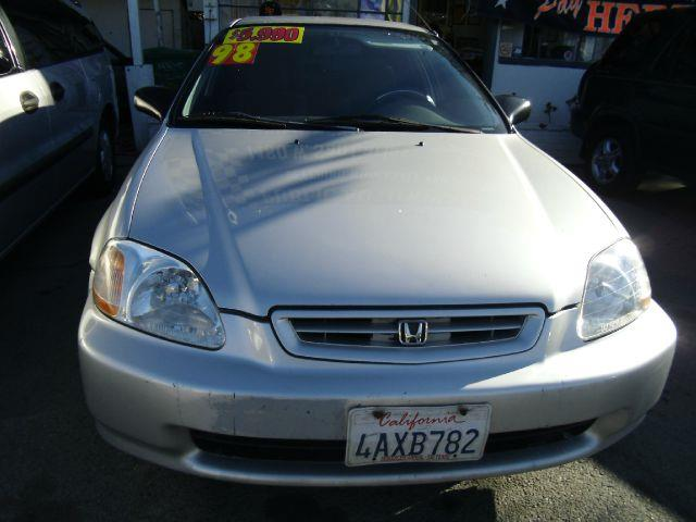 1998 HONDA CIVIC DX COUPE silver anti-brake system non-abs  4-wheel absbody style coupe 2-drc