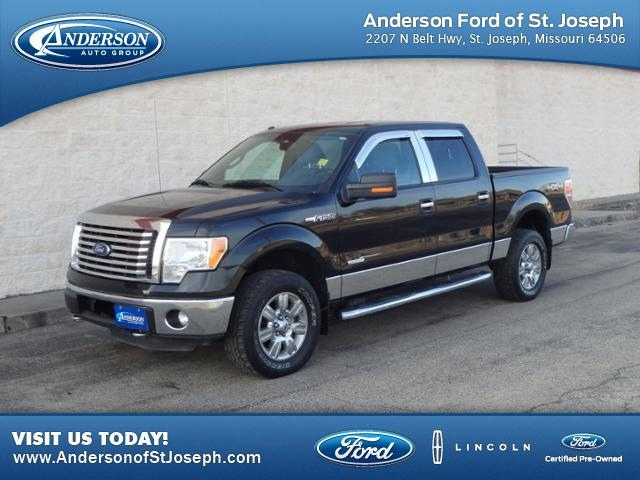 used 2011 ford f 150 4wd supercrew 157 xlt in st joseph mo at anderson ford lincoln kia. Black Bedroom Furniture Sets. Home Design Ideas
