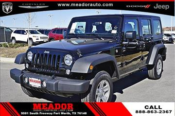 2017 Jeep Wrangler Unlimited for sale in Fort Worth, TX