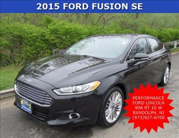 2015 Ford Fusion for sale in Randolph, NJ