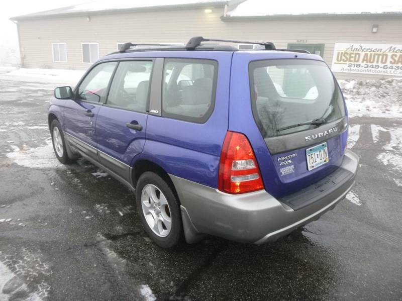 2003 subaru forester awd xs 4dr wagon in duluth mn Anderson motors llc