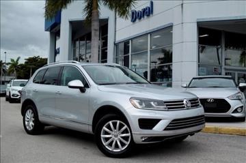 2015 Volkswagen Touareg for sale in Doral, FL