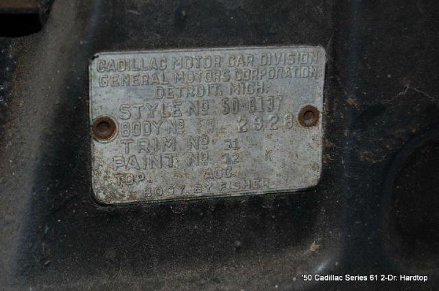 1950 Cadillac Series 61 Hardtop Project  - Saint Simons Island GA