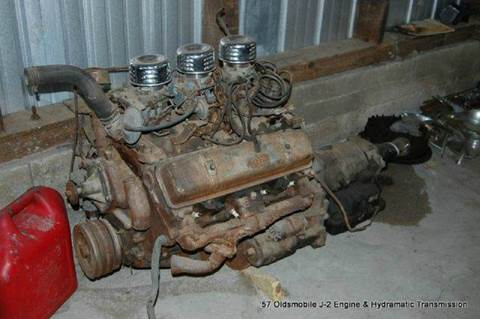 1957 Oldsmobile J2 371 C.I. Tri-Power Engine &