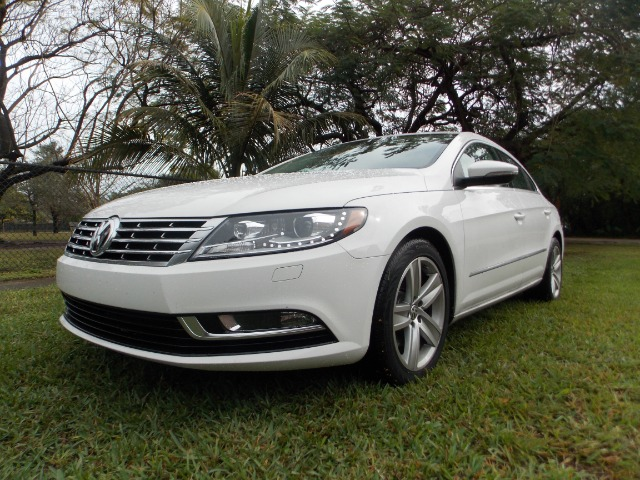 2013 VOLKSWAGEN CC SPORT PLUS white 100 clean carfax hot leather dual heated seats dual contr