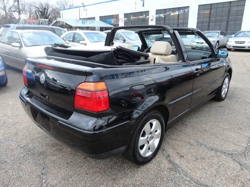2002 volkswagen cabrio glx 2dr convertible in richmond va for Affordable motors richmond va