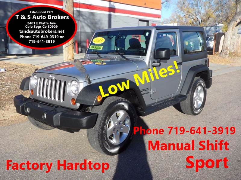 Jeep wrangler for sale in colorado springs co carsforsale 2013 jeep wrangler sport sciox Image collections