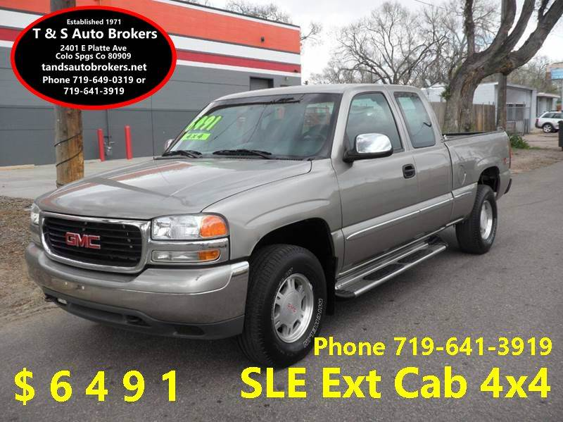 2000 GMC Sierra 1500 SLE 4x4 Ext Cab Z71  - Colorado Springs CO