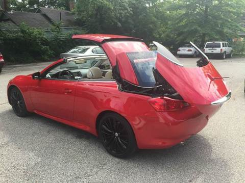 Infiniti G37 Convertible For Sale In Cleveland Oh Carsforsale