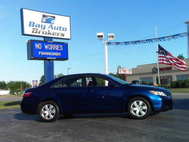 2008 TOYOTA CAMRY CE blue all of bay auto brokers pre-owned vehicles go through a rigorous inspec