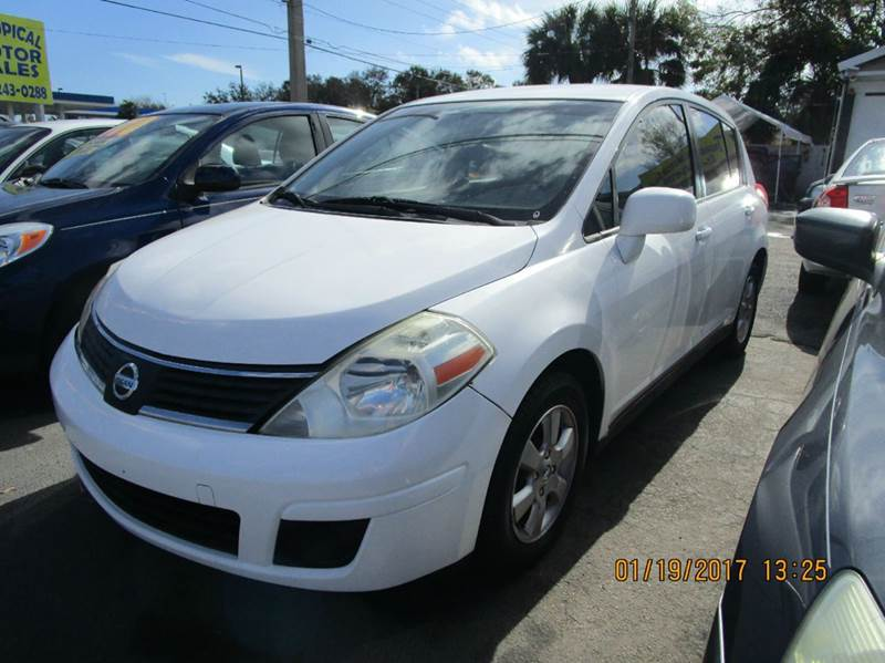 2007 nissan versa 1 8 s 4dr hatchback 1 8l i4 4a in cocoa fl tropical motor sales. Black Bedroom Furniture Sets. Home Design Ideas