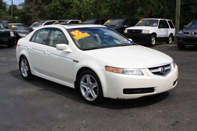 2005 ACURA TL 5-SPEED AT white diamond pearl 2005 acura tl 5-speed at 32lsunroofleather