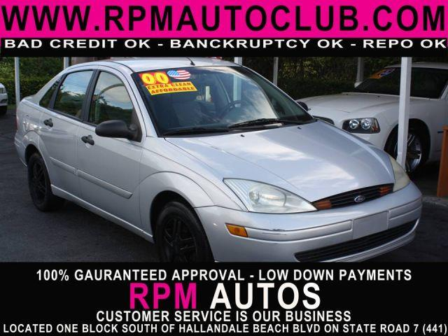 2000 FORD FOCUS SE 4DR SEDAN cd silver clearcoat metallic 2000 ford focus carfax available g