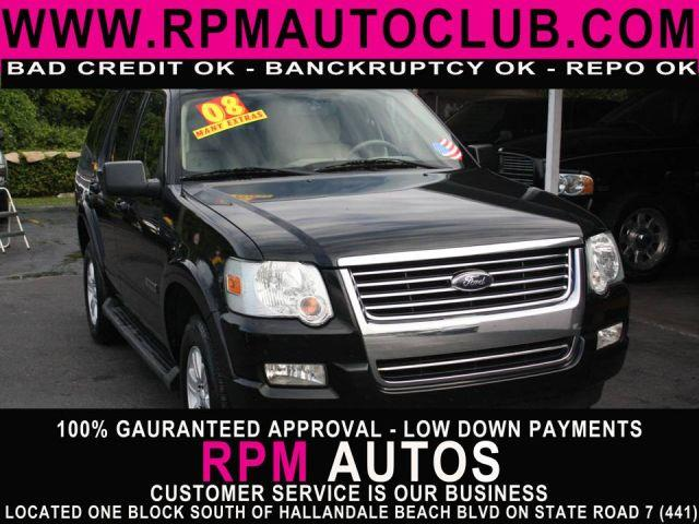 2008 FORD EXPLORER XLT 4X2 SUV black 2008 ford explorer xlt 40l 2wdloadedthird row seating