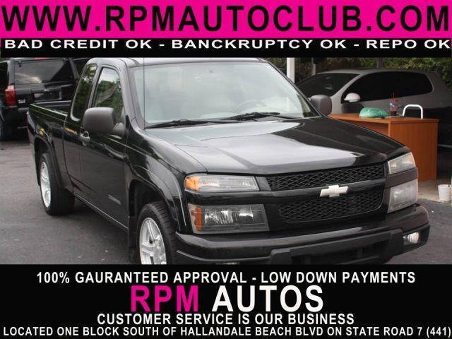 2004 CHEVROLET COLORADO Z85 EXT CAB 2WD black 2004 chevrolet colorado z85 ext cab 2wdclean ca