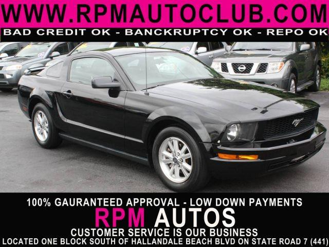 2006 FORD MUSTANG V6 PREMIUM COUPE black 2006 ford mustangleatherpriced to sellgreat val