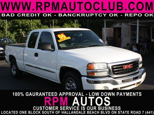 2006 GMC SIERRA 1500 SLT EXT CAB SHORT BED 2WD summit white 2006 gmc sierra extended cab leathe