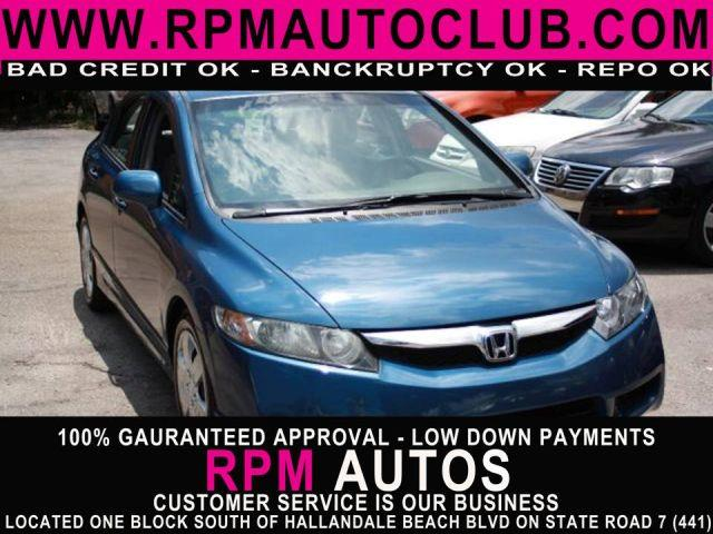 2010 HONDA CIVIC LX 4DR SEDAN 5A royal blue pearl 2010 honda civic  great gas mileage carfax