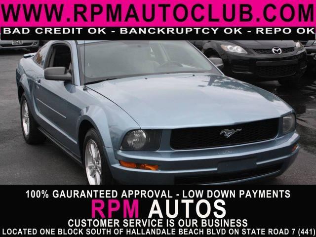 2007 FORD MUSTANG V6 DELUXE COUPE vista blue metallic 2007 ford mustangpriced to sellgreat