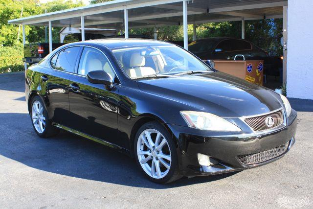 2007 LEXUS IS 250 BASE 4DR SEDAN 25L V6 6A obsidian 2007 lexus is is 250 6-speed sequentiall