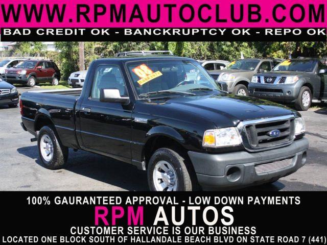 2008 FORD RANGER XL 2WD black 2008 ford rangercarfax availablegreat valueexcellent condi