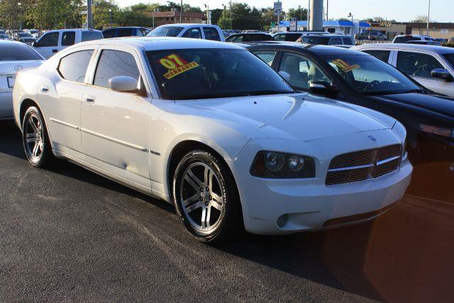 2007 DODGE CHARGER RT 4DR SEDAN stone white 2007 dodge charger rtgreat style and rideleath