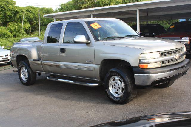 2002 CHEVROLET SILVERADO 1500 EXT CAB SHORT BED 4WD light pewter metallic 2002 chevrolet silvera