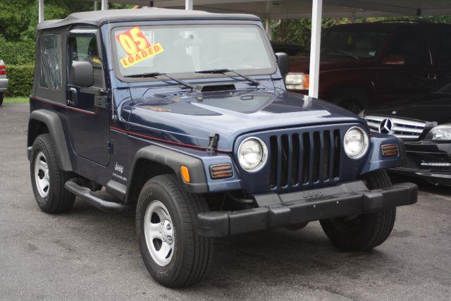2005 JEEP WRANGLER SE 4WD 2DR SUV patriot blue pearlcoat with bl 2005 jeep wrangler sepriced t