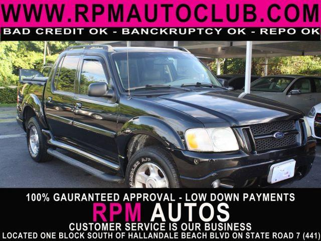 2004 FORD EXPLORER SPORT TRAC XLT 2WD black 2004 ford explorer sport track xltcarfax available