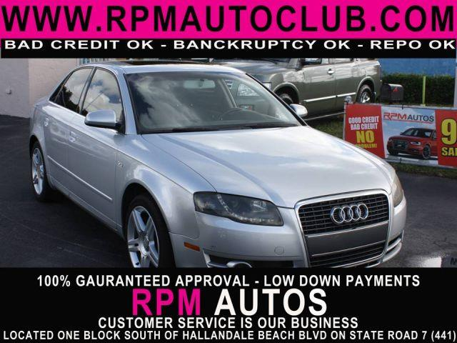 2007 AUDI A4 20T 4DR SEDAN 2L I4 light silver metallic 2007 audi a4 20t sedan sunroof  le