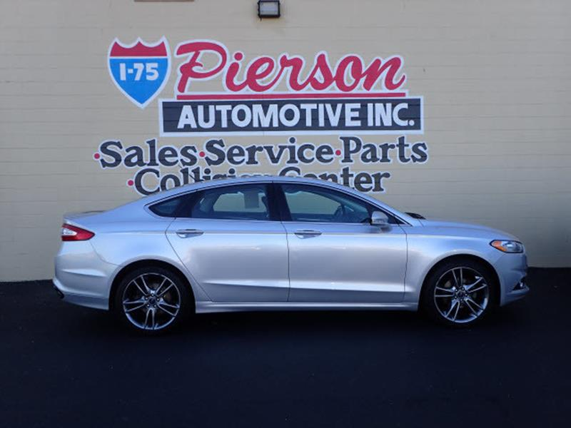 2014 Ford Fusion Titanium 4dr Sedan In Middletown Oh I 75 Pierson