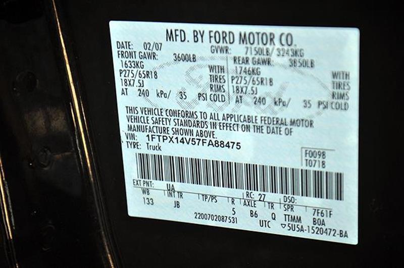 2007 Ford F-150  FX4 - Newport News VA