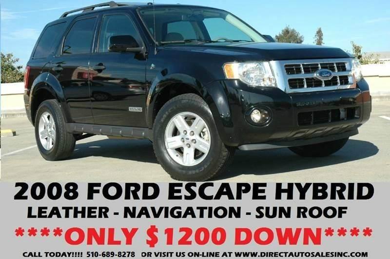 2008 ford escape hybrid 4dr suv in hayward ca direct auto sales inc. Black Bedroom Furniture Sets. Home Design Ideas