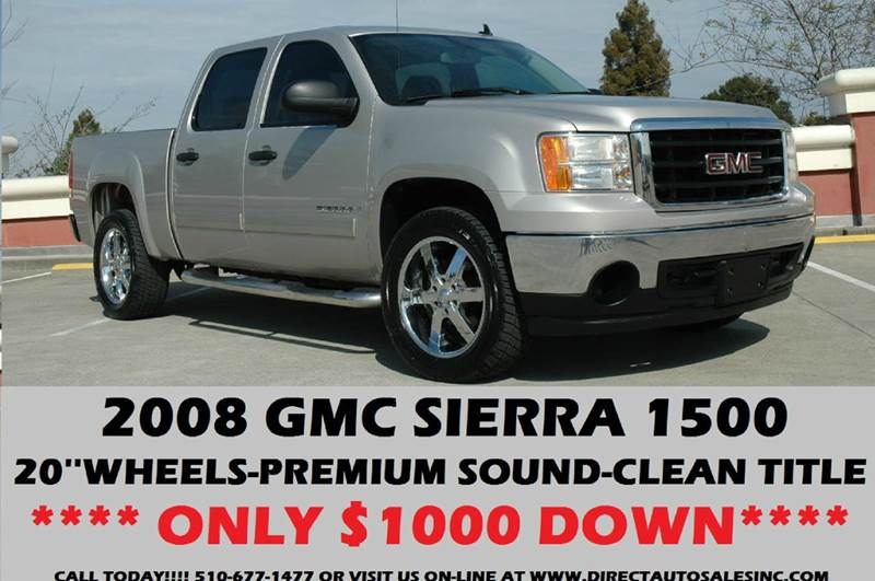 2008 gmc sierra 1500 2wd sle1 4dr crew cab 5 8 ft sb in. Black Bedroom Furniture Sets. Home Design Ideas