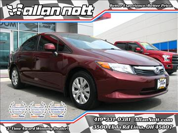 2012 Honda Civic for sale in Lima, OH