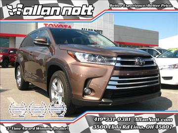 2017 Toyota Highlander for sale in Lima, OH