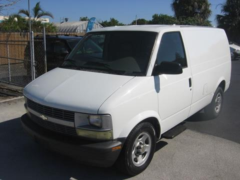 2004 Chevrolet Astro Cargo For Sale In Pompano Beach Fl