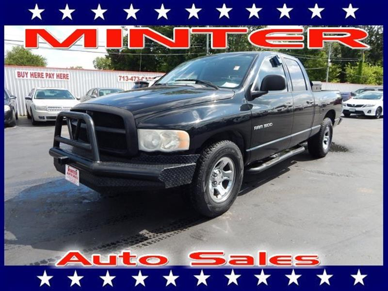2004 DODGE RAM PICKUP 1500 2WD QUAD CAB 63 FT BOX ST black 12v pwr outletair conditioningblack