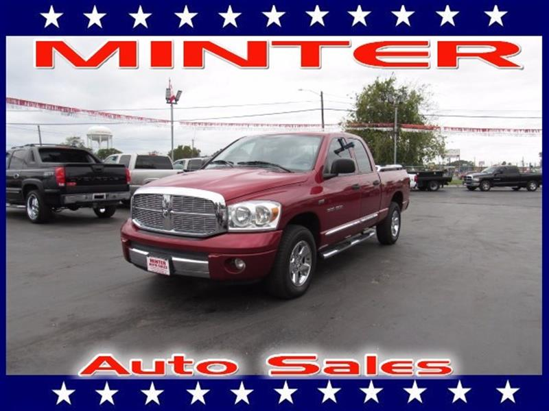 2007 DODGE RAM PICKUP 1500 2WD QUAD CAB 63 FT BOX ST flame red 12v pwr outletair conditioninga