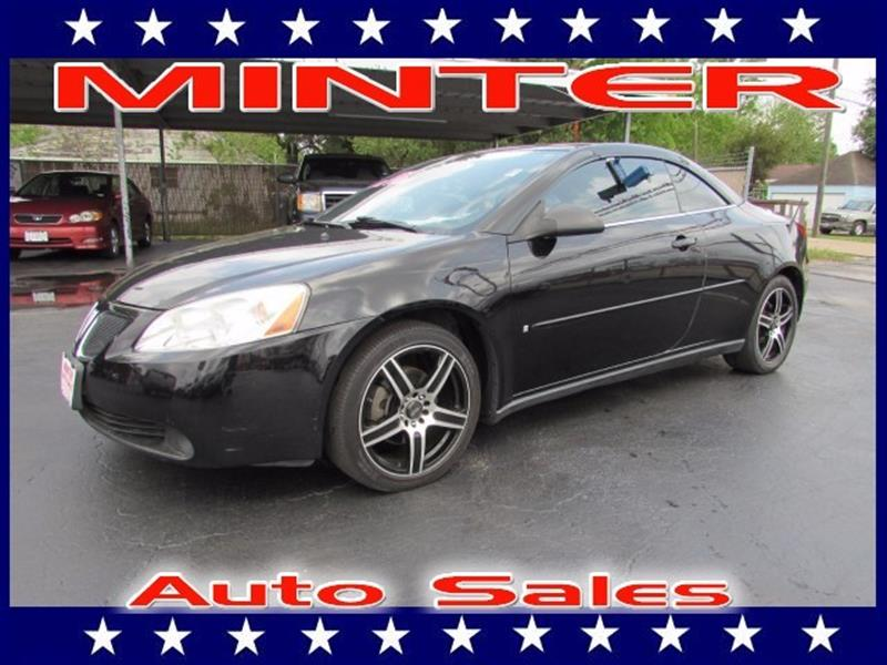 2006 PONTIAC G6 GTP 2DR CONVERTIBLE black air conditioning front automatic electronicconsole